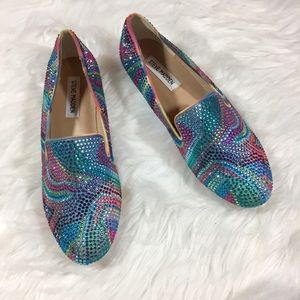 New Steve Madden Embellished Concord Flats Loafers